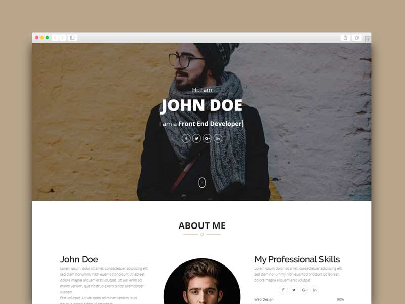 blogger template online portfolio
