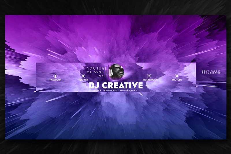10 Youtube Channel Art Banners vol.5 2044354 Downlaod Now