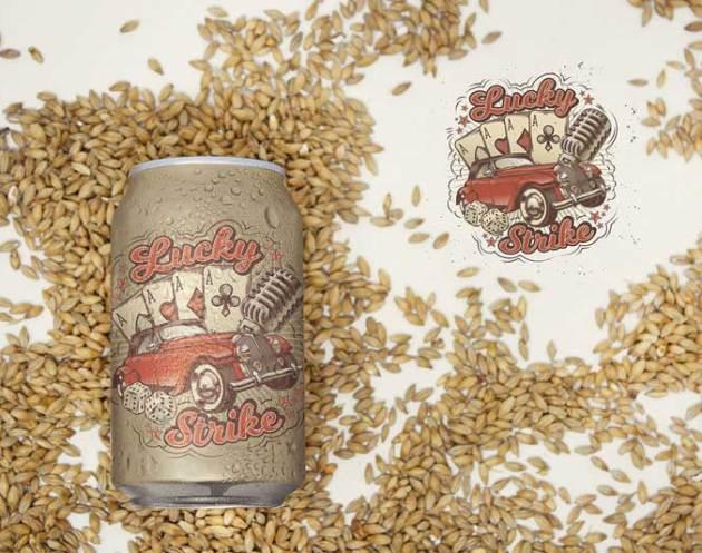 12oz Malt Beer Can Logo Mockup 4733212