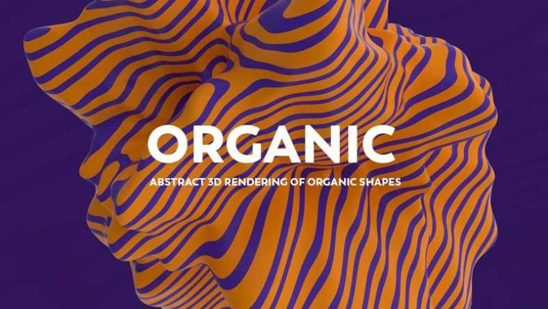 Abstract 3D representation of organic shapes