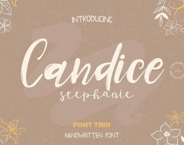 Candice Trio Font 4605966 Download Free