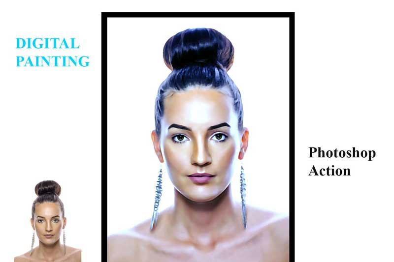 Creativemarket Digital Painting Photoshop Action 4557382