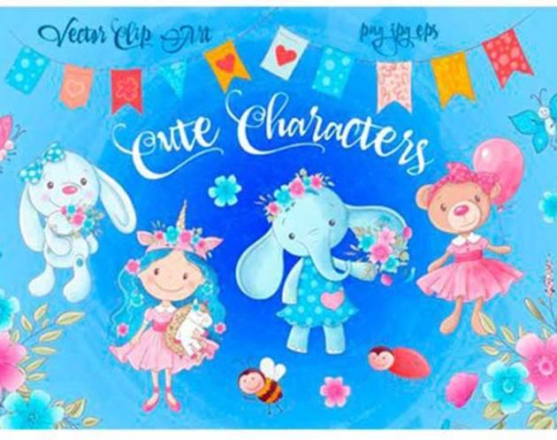 Cute Characters 25E225802593 Vector Clip Art 1845144