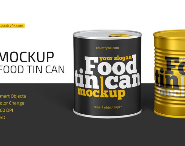 Food Tin Can Mockup 4473944