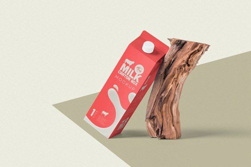 Juice Carton Box Packaging Mockups Free Download