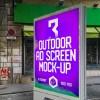 Outdoor Ad Screen MockUps
