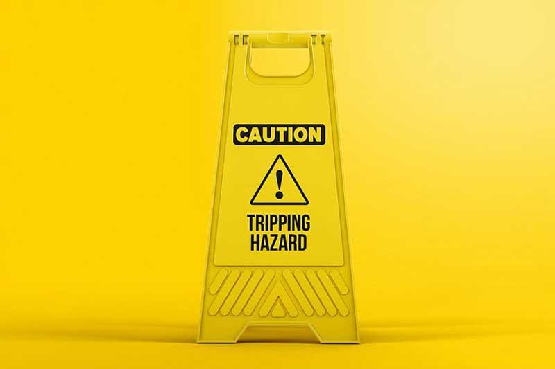 Plastic Caution Floor Sign Board Mockup Free Download