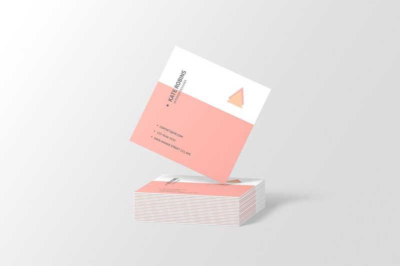 Square Business Card Mockup 4566160 Download Free