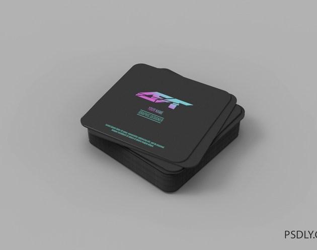 Square business card mockup Premium PSD Free