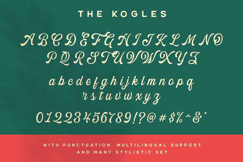 The Kogles Script Typeface 4632758 Psdly