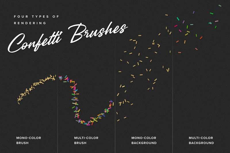 Confetti & Glitter Procreate Brushes 4523593