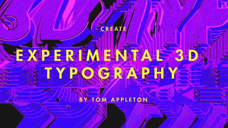 Create experimental 3D typography in Adobe Illustrator and Photoshop