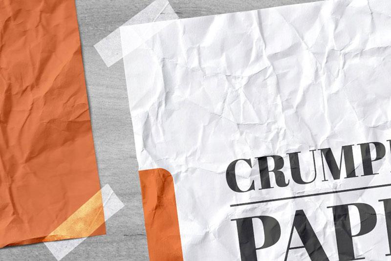 Crumpled Paper Mockup 4738816 1
