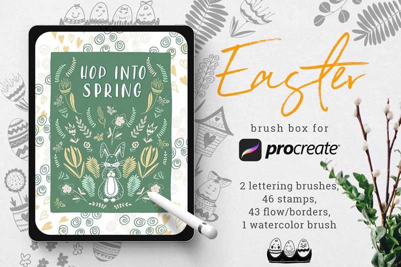 Easter brush box for Procreate 4745348