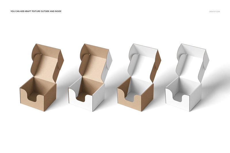 Front Tuck Mailer Box Mockup Set 4351625