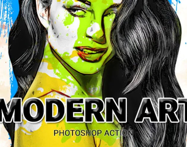 Modern Art Photoshop Action 26067958