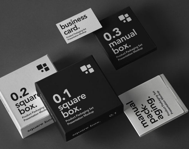 Psd Product Packaging Mockup Set