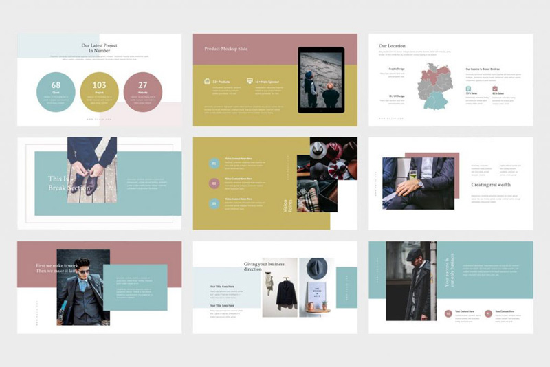 Ruzia luxury fashion powerpoint and Google SlidesTemplate