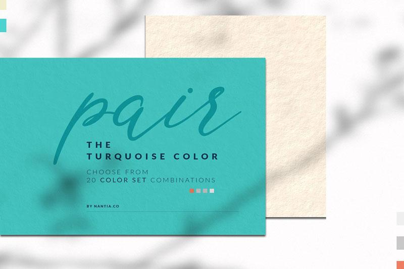 Turquoise color palette 4028702