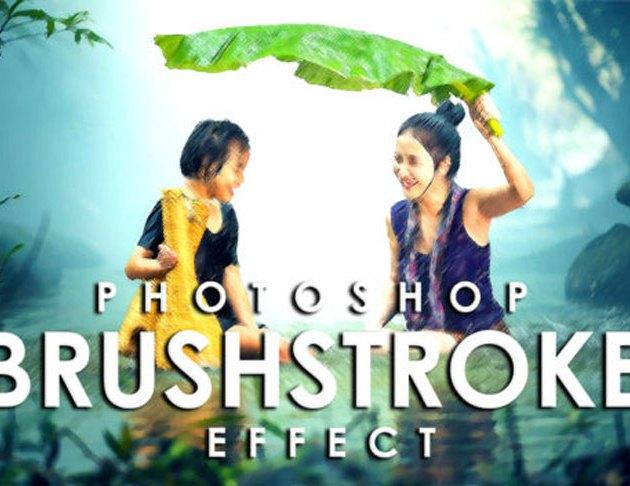 Vibrant Brushstroke Photoshop Action