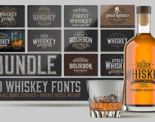 Whiskey Fonts Bundle 4577974 Free