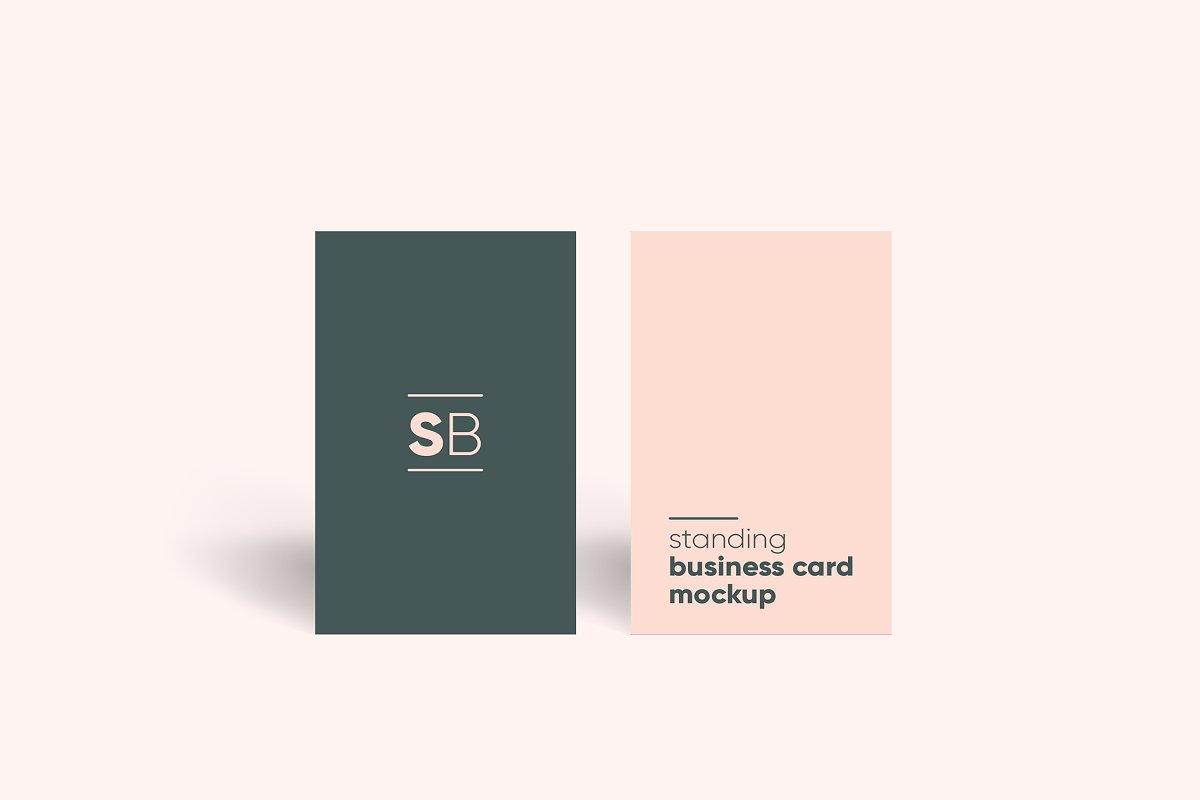 Standing Business Card Mockup 4126731