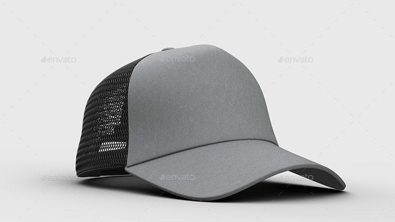 GraphicRiver - 4 Cap Mockup 25625998