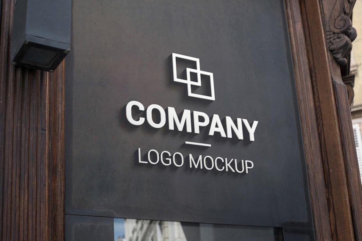 Dark Background 3D Logo Mockup