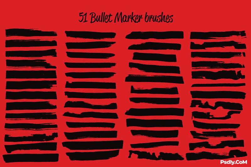 90 Sharpie Marker Vector Brushes 68559