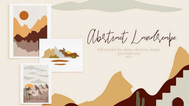 Abstract Landscape Creation Kit 4557397