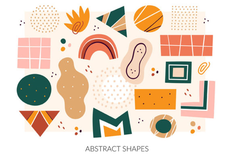 Abstract Shapes Clipart. Digital Prints