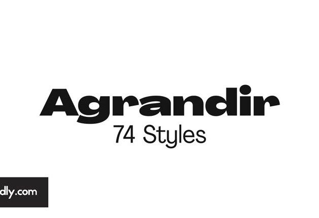 Agrandir V3 Font Family free download
