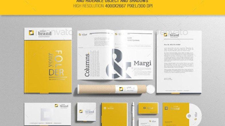 Branding Stationery Mockups V3 9842897