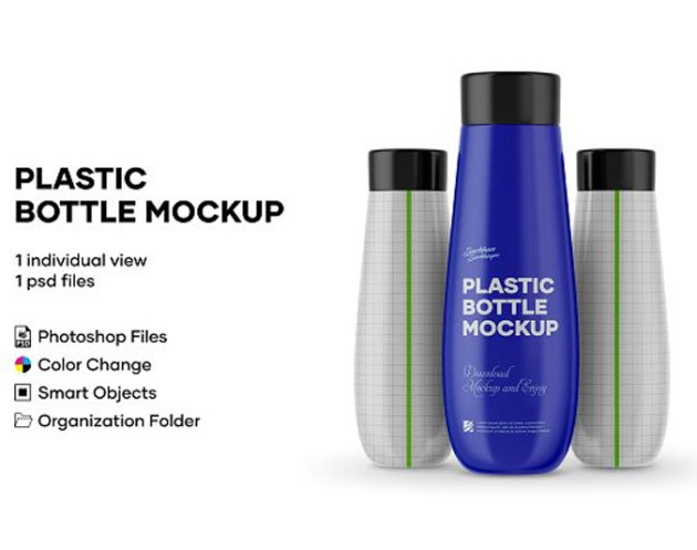 Plastic Bottle Mockup 4977916