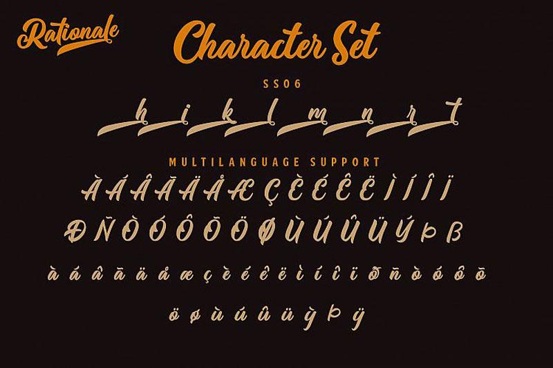 Rationale Vintage Script Font