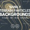 Swirly – Terrain Particles Backgrounds