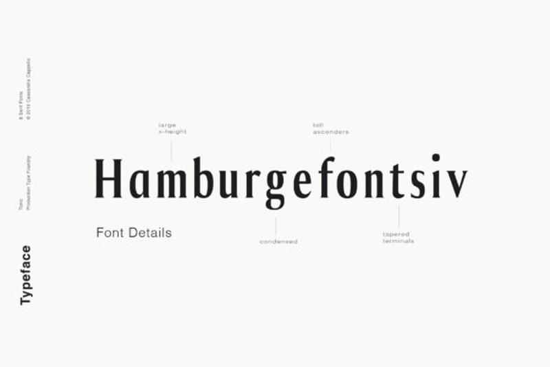 Tonic – Luxurious Serif Typeface