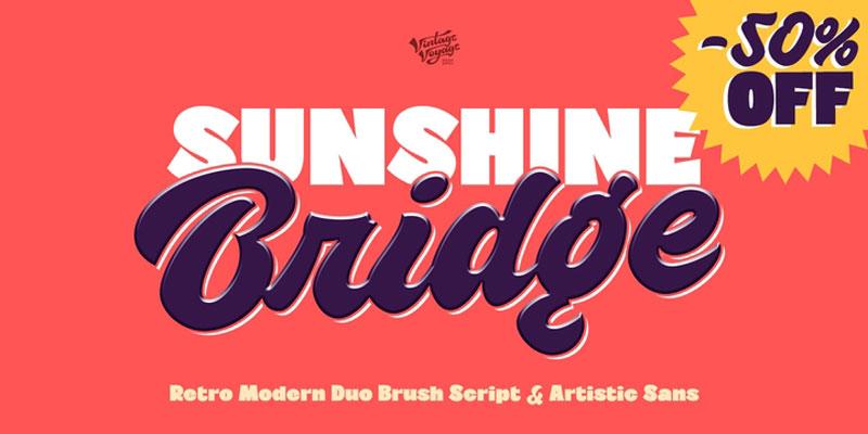 VVDS Sunshine Bridge Font Family - 6 Fonts