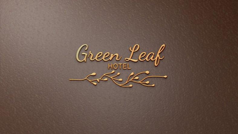 luxury gold logo mockup leather