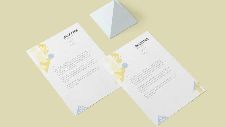 A4 Size Letter Mockups 4646671
