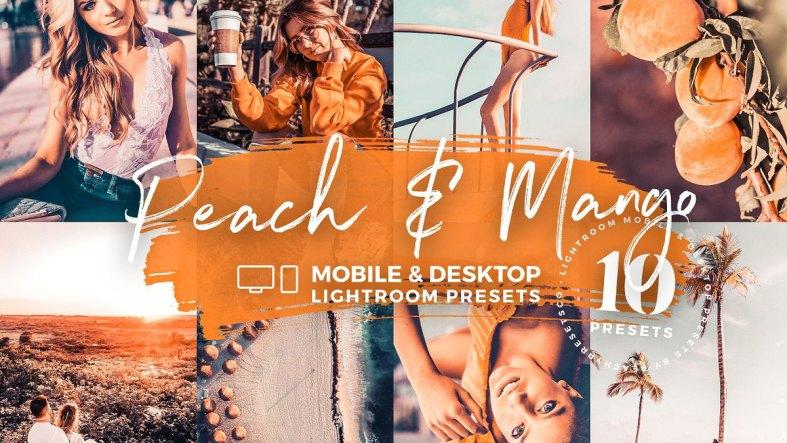 10 Peach & Mango Mobile Presets 5143137