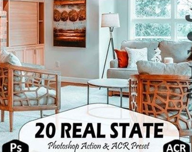 20 Real State Photoshop Actions and ACR 4444130