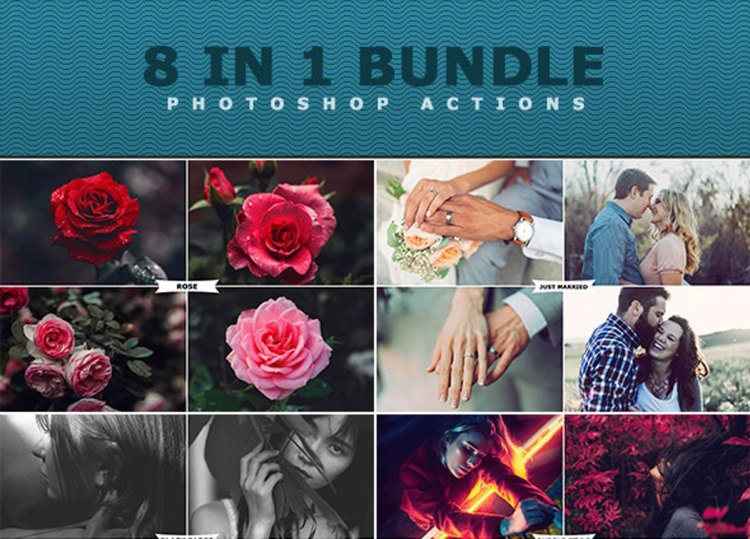 8 IN 1 Photoshop Actions Bundle 27450364