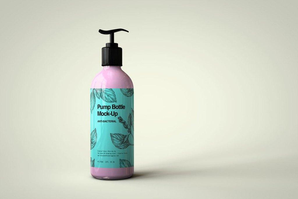 CreativeMarket Plastic Pump Bottle Mock Up 4823852