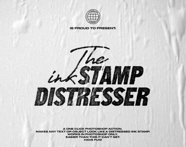 CreativeMarket - The Ink Stamp Distresser - One Click 4637254