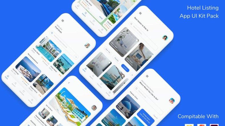 Hotel Listing App UI Kit Pack