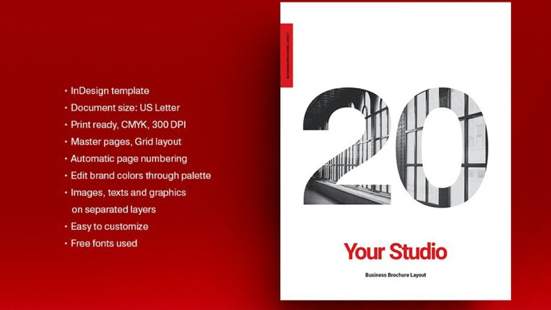 Red Business Brochure Layout 5150608