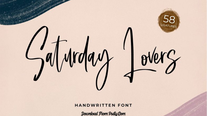 Saturday Lovers - Classy Handwritten