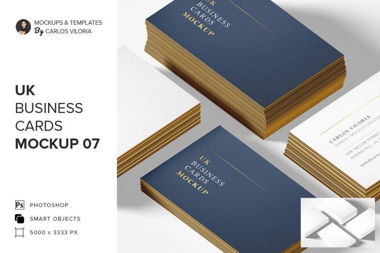 UK Business Cards Mockup 07 5217179
