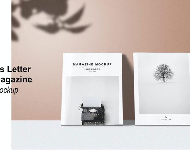 Us Letter - Cover Magazine Mockup